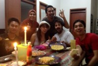 Bandung con Arief y Family.
