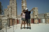 Pasando calor en Massada.