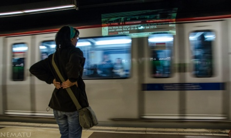 Colados en el metro