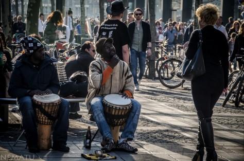 Músicos en la calle.
