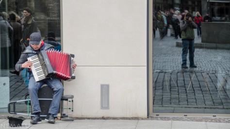 Músico en la calle.