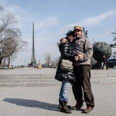 Monumento a los conquistadores del Espacio.