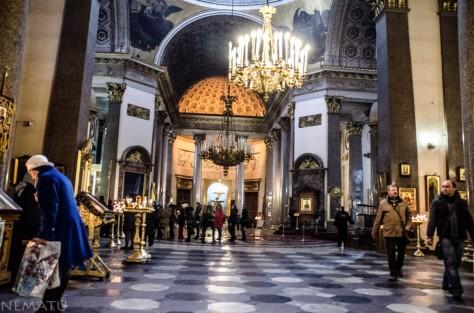 Interior de la Catedral de la Virgen de Kazán. (Foto prohibida)
