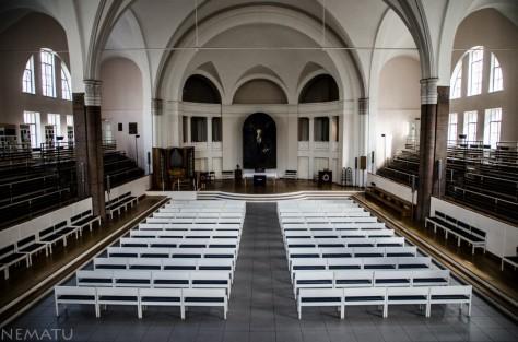 """La Iglesia Luterana de San Pedro. (aunque no lo parezca, en los """"soviet times"""" los comunistas tenían aquí montada una piscina)"""