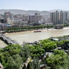Río Amarillo en Lanzhou.