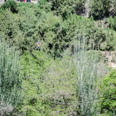 Nematu en tirolina en Lanzhou.