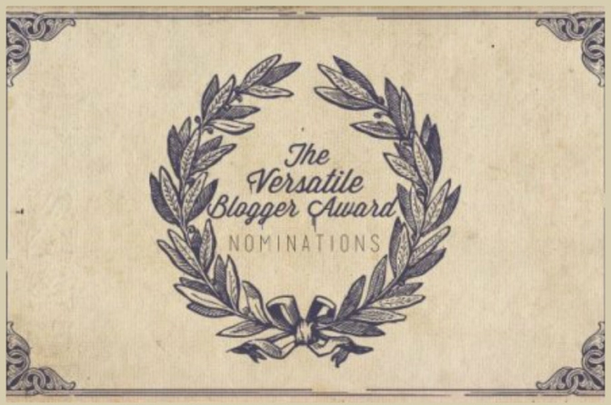 ¿Nominado para The Versatile Blogger Award?
