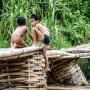 Puente de bambú.