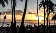 """Sunset"" en Waikiki Beach."