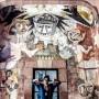 """Mural en el Centro Cultural Ignacio Ramírez """"El Nigromante""""."""