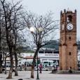Reloj de tipo mudéjar, construido durante la conquista española.