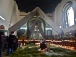Interior iglesia de Chamula.