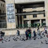 Fotos en el Palacio de Justicia de los desaparecidos en la toma del Palacio el 6 de noviembre de 1985.