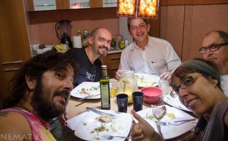 Cena con Marcel y amigos.